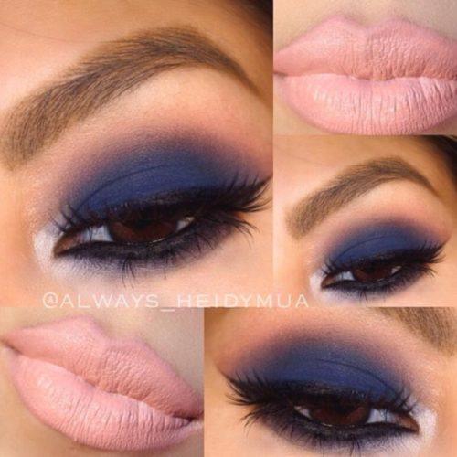 Navy Blue Eyeshadows on Brown Eyes
