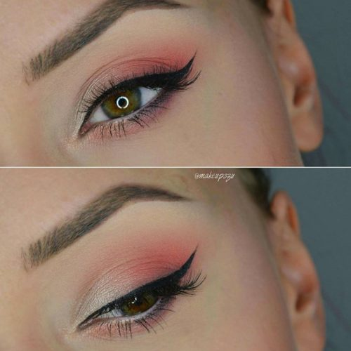 Pale Pink with Winged Liner