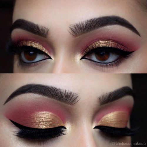 Rose and Gold Eyeshadows