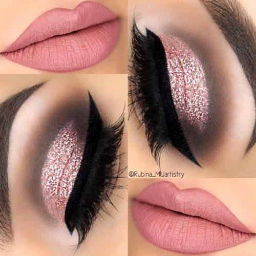 Rose Gold Glitter Cut Crease