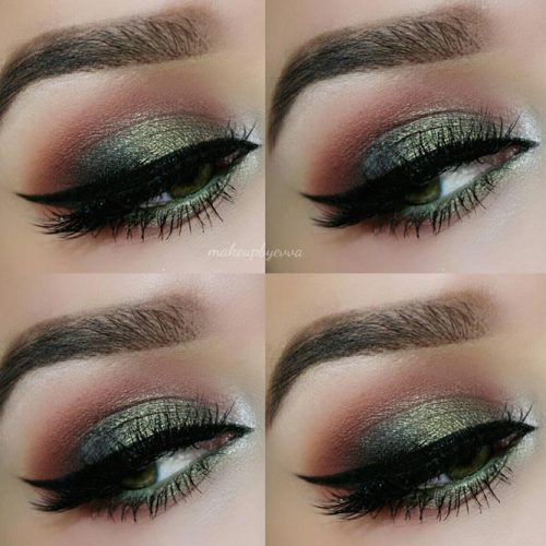 Smokey Dark Green and Pink