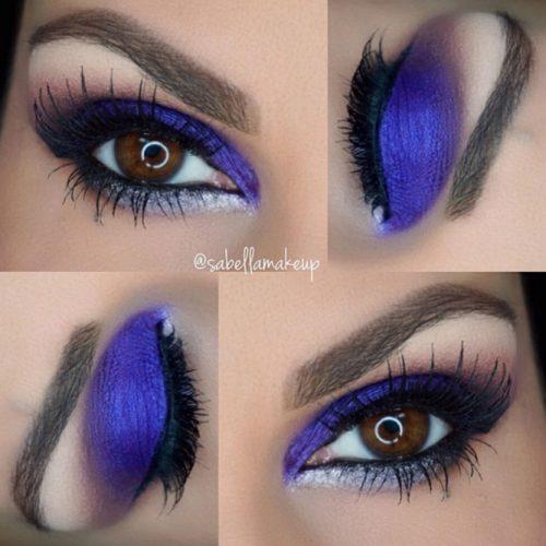Smokey Purple Matte Eyeshadows on Brown Eyes