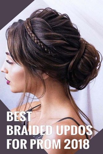 Trendy Updo Hairstyles for Beautiful Prom Look picture2