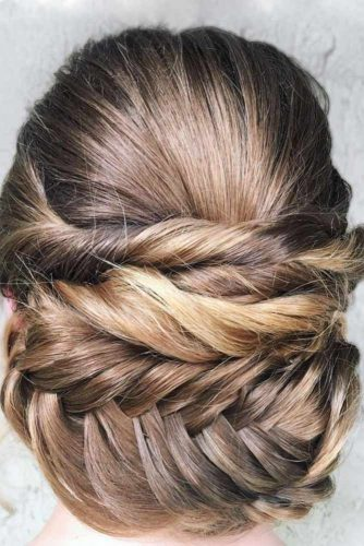 Updos With Neat Braids To Embrace Your Beauty picture 6