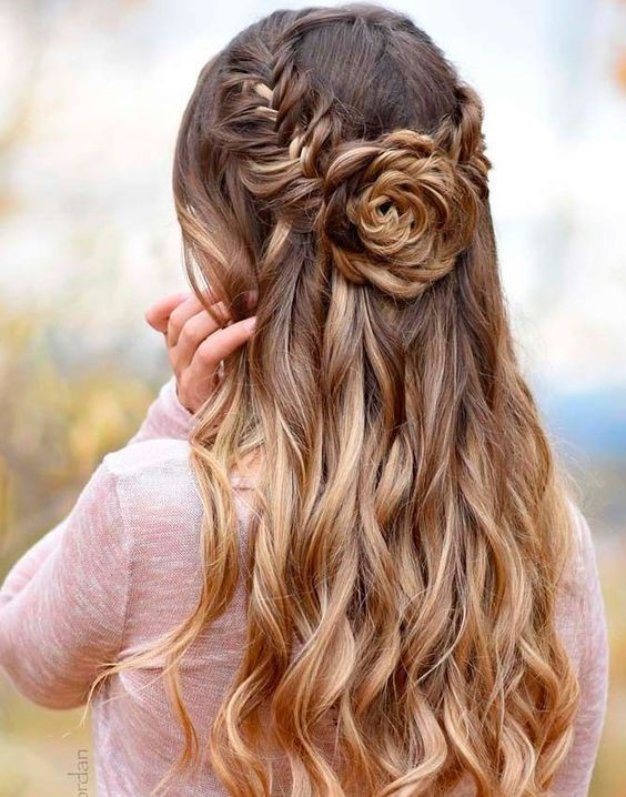 18 Best Rose Hairstyles Ideas for Long Hair [with Tutorial