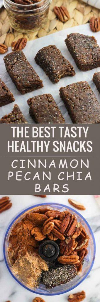 Cinnamon Pecan Chia Bars