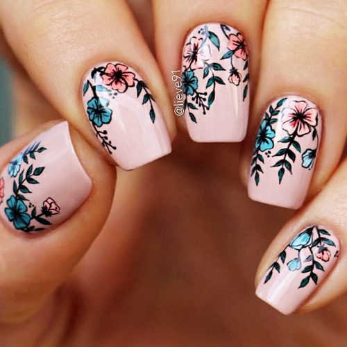 Cute Nail Designs with Flowers Picture 3