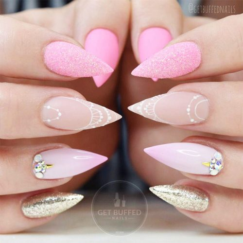 Cute Nail Designs with Soft Pink Shades for Princesses Picture 2