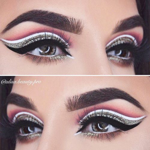 Pretty White and Black Eyeliner Styles