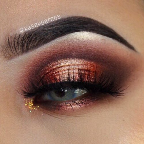 Romantic Eye Look with Ombre Halos