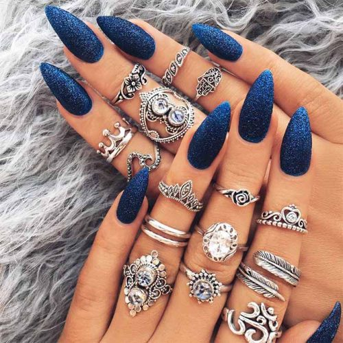 Awesome Bright Almond Nails Picture 1