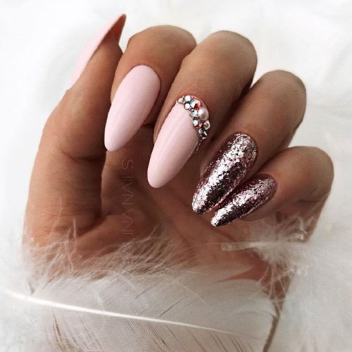 Awesome Bright Almond Nails Picture 2