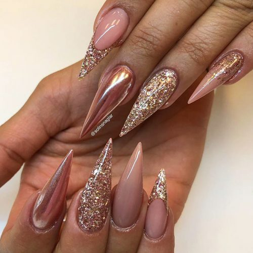 Beautiful Glitter Nude Nails Designs Picture 2