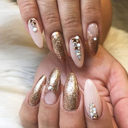 Beautiful Glitter Nude Nails Designs Picture 5