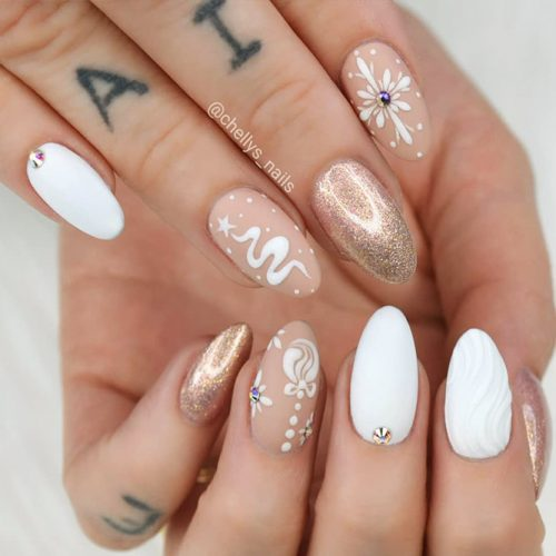Beautiful Glitter Nude Nails Designs Picture 6