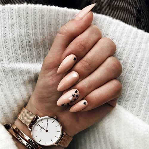 Beautiful Nude Almond Shaped Nails Picture 3