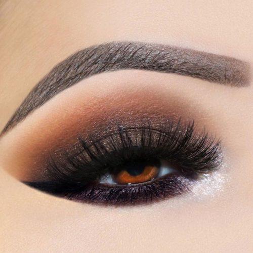 Black Smokey Eyes Makeup For Amber Eyes #smokeyeyes