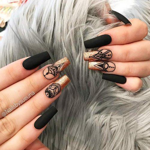 Bright Glitter Designs for Ballerina Nails Picture 3