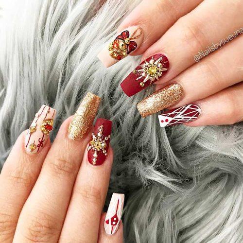 Bright Glitter Designs for Ballerina Nails Picture 5