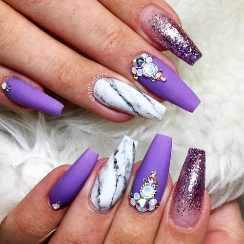 Bright Glitter Designs for Ballerina Nails Picture 6