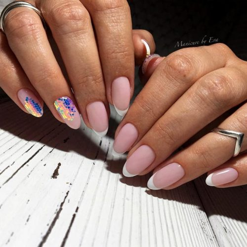 Classy French Almond Nails Picture 2