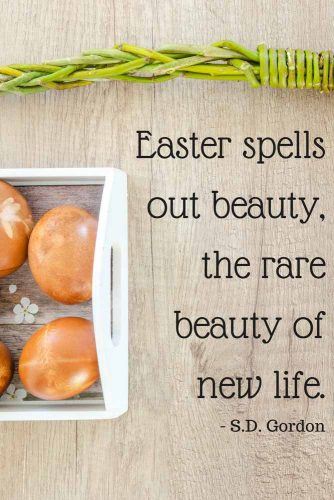 Easter spells out beauty, the rare beauty of new life