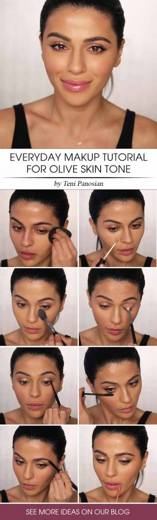 Makeup Tutorial For Olive Skin #makeuptutorial #oliveskintonemakeup