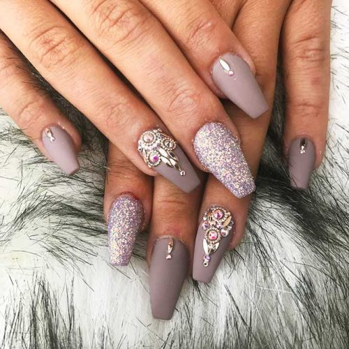 Matte Ballerina Nails for a Classy Look Picture 1