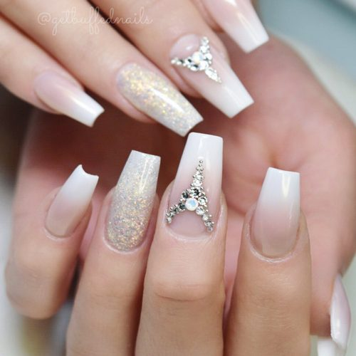 Nude Nails with Ombre Design Picture 2