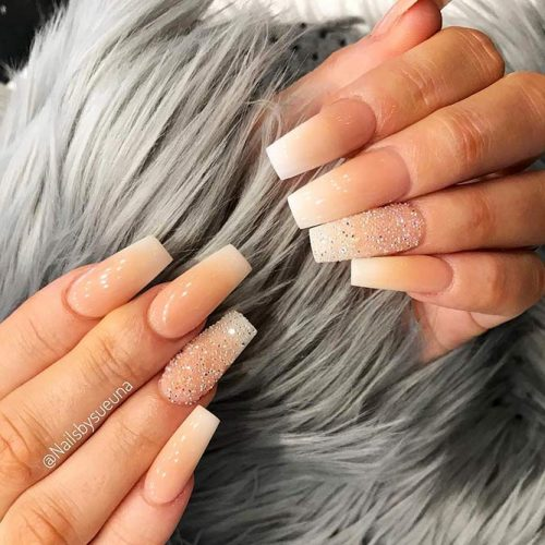 Nude Nails with Ombre Design Picture 4