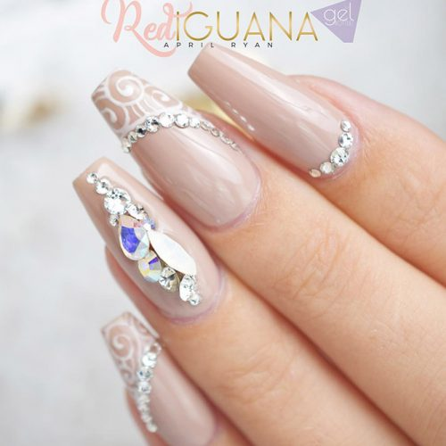 Nude Nails with Rhinestones Picture 1