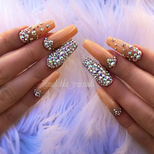 Sparkling Ballerina Nail Designs with Stones Picture 6